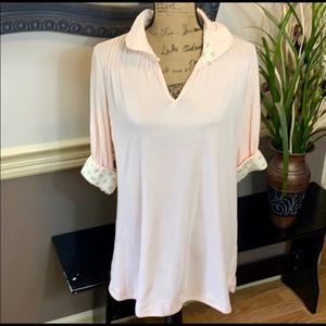 FP Free People Women's Pale Pink Tunic Top